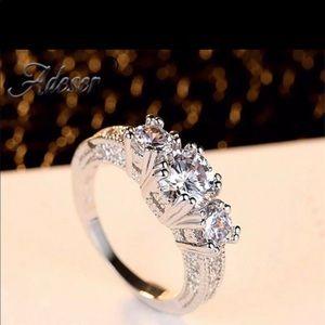 White Sapphire CZ ring